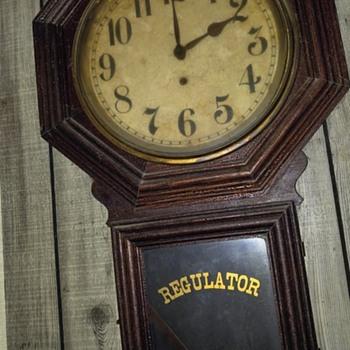 Early regulator wall clock - Clocks