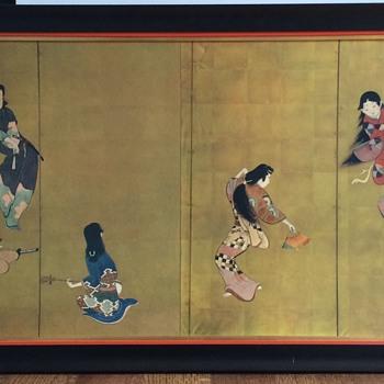 Japanese Geisha Dancing Panels