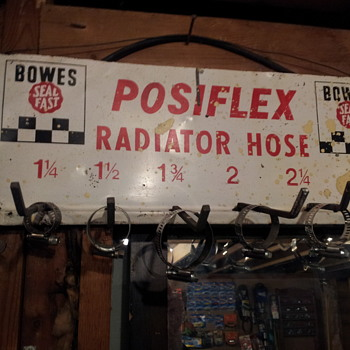 Bowes Posiflex Wall Mounted Rad Hose Sign Rack - Advertising