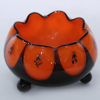Loetz Decorated Glass, Peche/WW/Hosch? - Art Glass