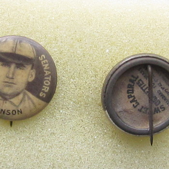 Walter Johnson Pinback - Baseball