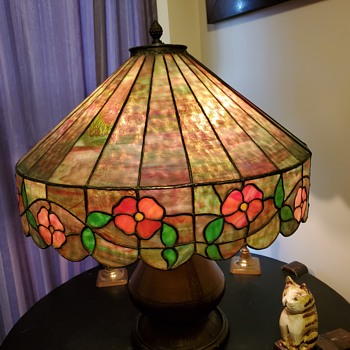 "Early 21"" leaded glass hanging shade - Lamps"