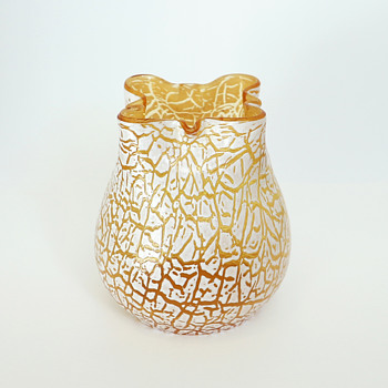 Kralik 'Soft Crackle' Vase - Art Glass