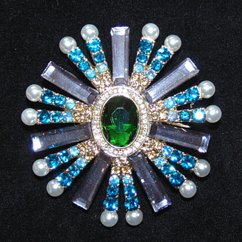 Jewelry Lovers - Contemporary Brooch with an Unusual Mark, Anyone Know the Maker? - Costume Jewelry