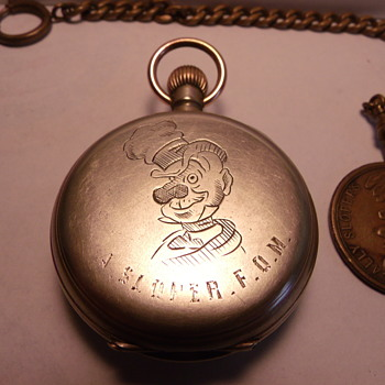 Alley Sloper F.O.M. Pocket Watch and Token - Pocket Watches