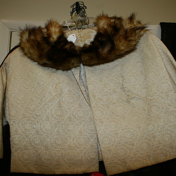 Vintage Bolero Jacket with fur collar - Womens Clothing