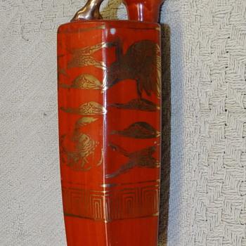 Kutani tokkuri bird flask - Asian