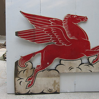 wooden early Pegasus double sided  - Signs