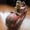 """Mickey Mouse rubber Fire Truck , But""""no mickey, But 2 Donald 's factory error car toy!"""