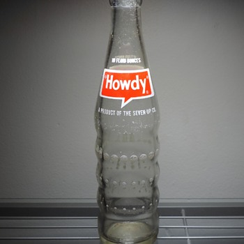 1973 Howdy Soda Bottle ACL Glenshaw Glass - Bottles