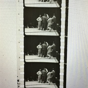 VINTAGE 35mm Film strip Boxer Tommy Loughran unknow what year or who he was fighting !! - Photographs