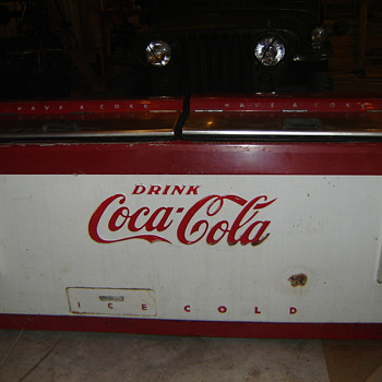 1950's cooler to be re-purpoused into a rolling bar! - Coca-Cola