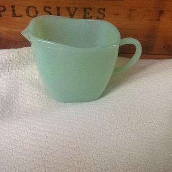 Jadeite creamer  - Glassware