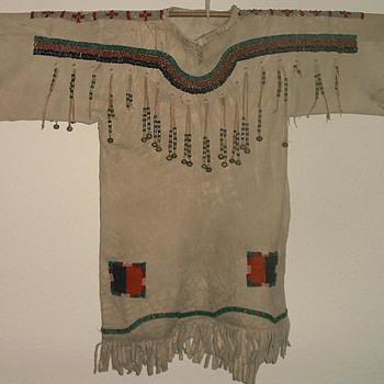 Blackfoot Girls Dress 1890 Buckskin and Beadwork