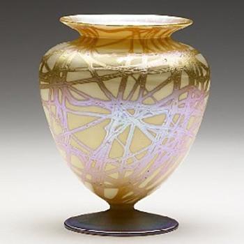 Quezal Urn - Art Glass