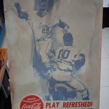Coca Cola cardboard poster Play Refreshed