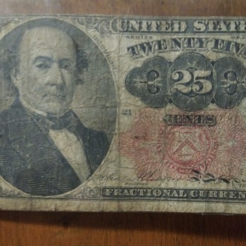 1845 treasury 25cent piece original - US Paper Money