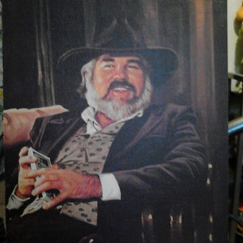 Unknown kenny Rogers Painting,Lawrence Williams - Music Memorabilia