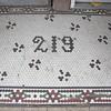 Sidewalk mosaic...honeycomb