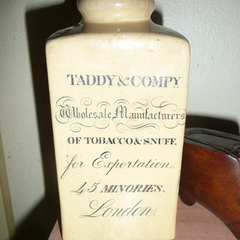 My Taddy & Compy Snuff Jar - Tobacciana