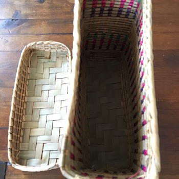 Square Woven Basket with Lid