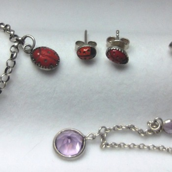 Colllection of silver (enameled) children's jewelry  - Fine Jewelry