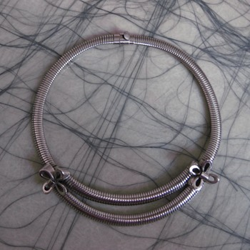 Ernest Steiner original - late 1940's or 50's silver choker - Costume Jewelry