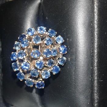 Vintage Sapphire 14k Spiral Ring. - Fine Jewelry