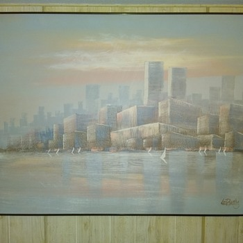 Lee Reynolds sofa painting - Fine Art
