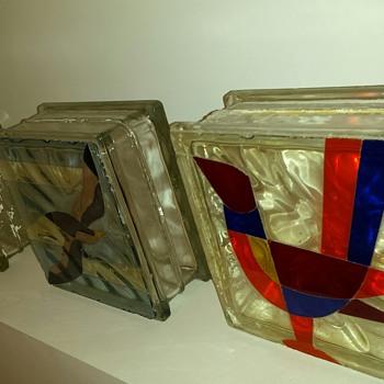 Glasss Brick Moasic Art Deco ? - Art Glass