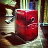 My transluscent red Boston pencil sharpener