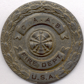 Unknown Fire Chief's 'C' Army Air Base hat Badge - Firefighting