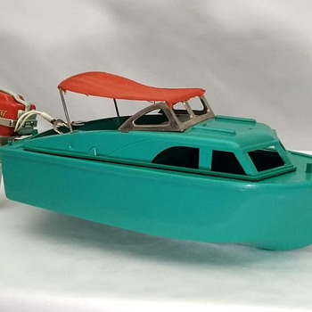 Vintage Toy K&O SEA DART Electric Outboard Motor w/ El Capitan Boat & Box - Toys