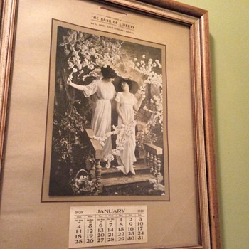 1920's calender