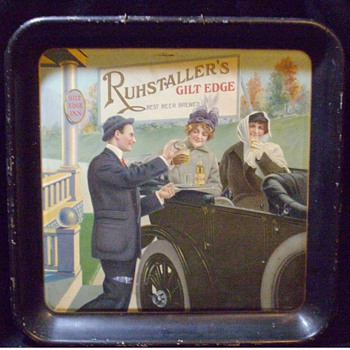 Pre-Prohibition beer tray. - Breweriana
