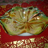 art glass sweet dish