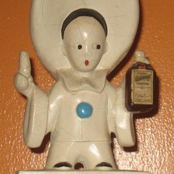 Cointreau Pierrot Clown Liquor Advertising Figurines Statues Bar Back French Liqueur - Advertising
