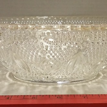 9in Round Federal Glass 'Heritage' Bowl - Glassware