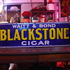 "Embossed Early 1900's Waitt & Bond ""Blackstone Cigar"" Porcelain Sign...Four Colors"