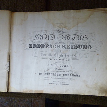 1855 world atlas from Germany - Paper