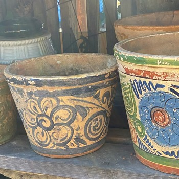 Beautifully Worn and Rustic Mexican Planters / Pots - Pottery