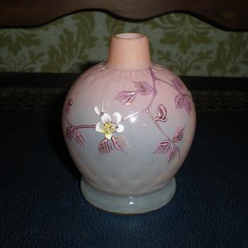 Harrach pink enamelled optical atomizer. - Art Glass