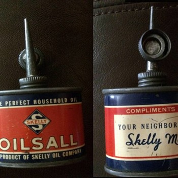A small household oil tin