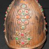 Vintage Old Strange Jewelry Designed Faberge type Easter Copper Egg