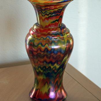 Welz Iridescent Swirl vase - Art Glass