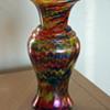 Welz Iridescent Swirl vase
