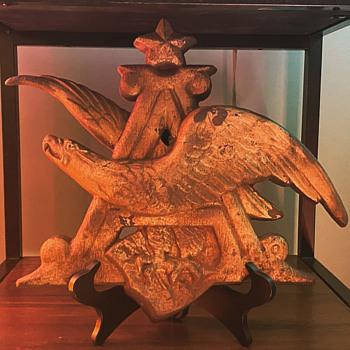 Anheuser Busch Eagle Plaque - Breweriana