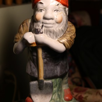 Old Porcelain Gnome - German? - Figurines