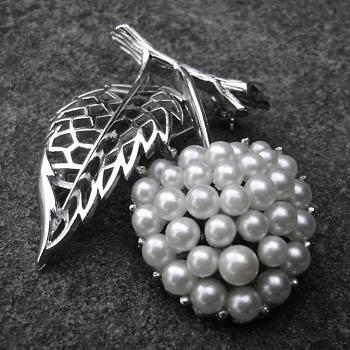 Trifari Cherry Brooch - Costume Jewelry