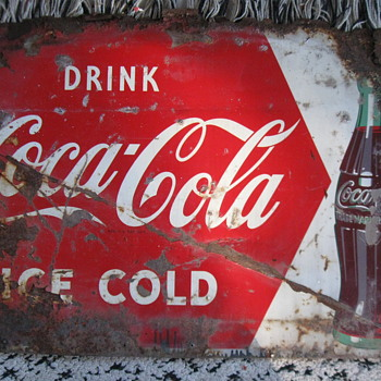 Drink Coca Cola tacker sign - Coca-Cola